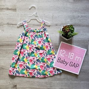 BABY GAP fruit patterned bow topped sweet dress